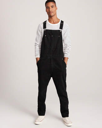 Abercrombie & Fitch Ripped Denim Overalls
