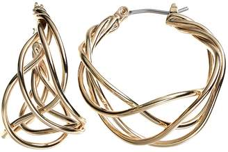 Dana Buchman Woven Hoop Earrings