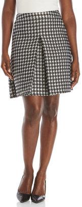 pink tartan Flocked Houndstooth Skirt $295 thestylecure.com