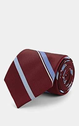 Fairfax Men's Striped Silk Jacquard Necktie - Red