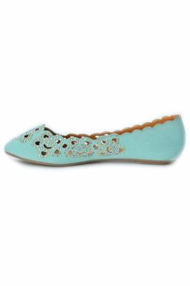 Bamboo Rhinestone Floral Flat $24.80 thestylecure.com