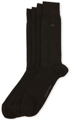 Calvin Klein 4-Pack Flat-Knit Crew Socks