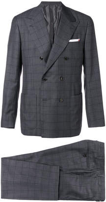 Kiton double breasted two piece suit