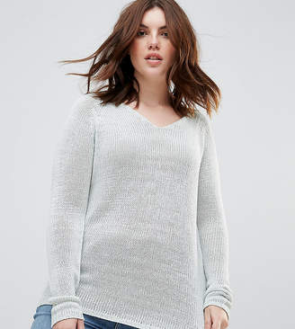 Brave Soul Plus Joy V Neck Jumper