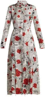 GABRIELA HEARST Jane newspaper-print silk twill shirtdress