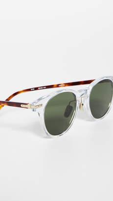 Linda Farrow Luxe Clear Acetate Small Sunglasses