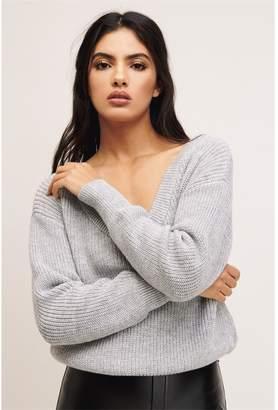 Dynamite V-Neck Sweater Jet Black