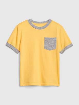 Gap Toddler Pocket Short Sleeve Ringer T-Shirt