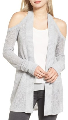 Women's Chelsea28 Cold Shoulder Cardigan $79 thestylecure.com