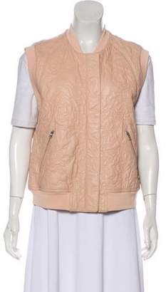 Rebecca Taylor Raw Edged Leather Vest
