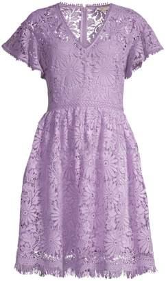 Shoshanna Giorgia Lace Fit-And-Flare Dress