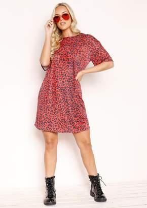 da3d0f659 Missy Empire Missyempire Mila Red Leopard Print T-Shirt Dress