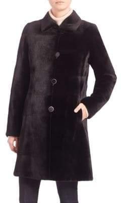 The Fur Salon Reversible Mink Fur Velvet Coat
