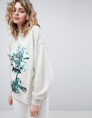 Weekday Oversized Printed Sweatshirt