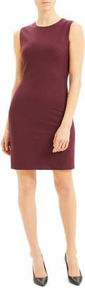 Theory Sleeveless Stretch Wool Sheath Dress