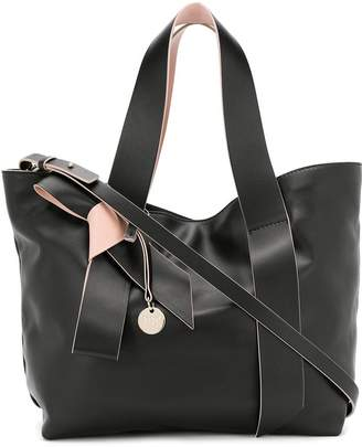 RED Valentino RED(V) bow detail tote