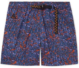 Nike Wide-leg Printed Nylon Shorts - Blue