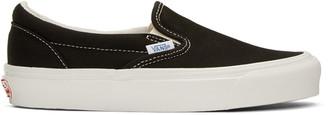 Vans Black OG Classic LX Slip-On Sneakers $60 thestylecure.com