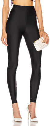 Versace Shiny Leggings in Black | FWRD