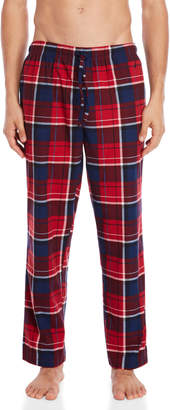 Nautica Red Plaid Cozy Fleece Pajama Pants