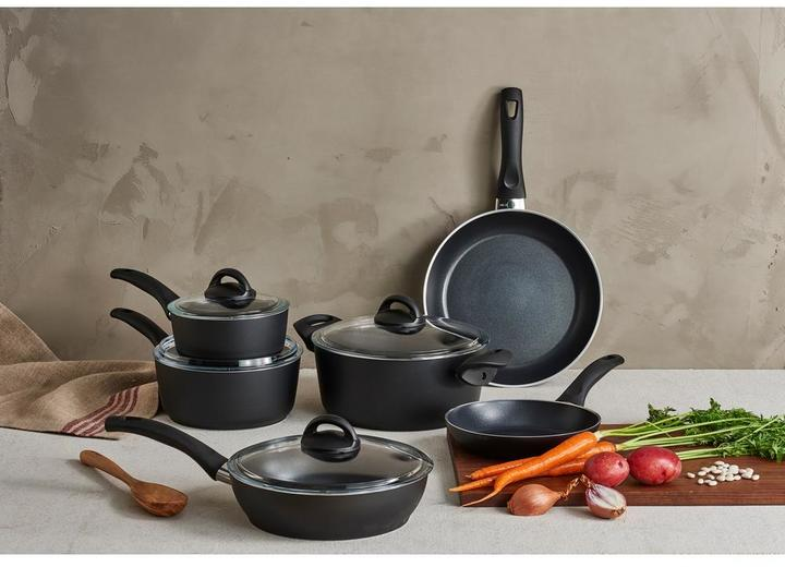 Ballarini Ballarini Pisa 10-Piece Black Cookware Set with Lids