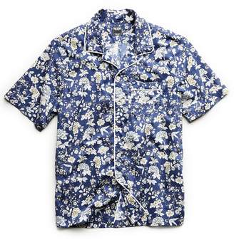 Todd Snyder Piped Liberty Camp Collar Floral Print in Blue