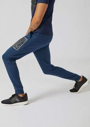 Emporio Armani Slim-Fit Cotton Joggers With Ea7 Logo
