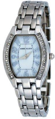 AK Anne Klein (AK アン クライン) - AK Anne Klein # 10 / 9839mpsvレディースホワイトダイヤルクリスタルアクセントブレスレット腕時計