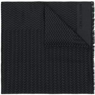Giorgio Armani zig zag pattern scarf