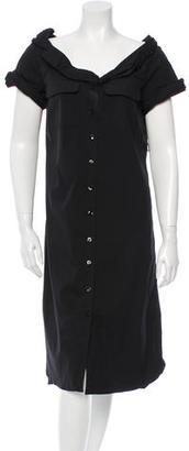Jean Paul Gaultier Button-Up Midi Dress $145 thestylecure.com