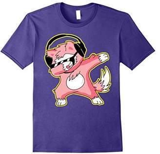 Dabbing Wolf Funny Shirt Dab Hip Hop Dabbing Wolf