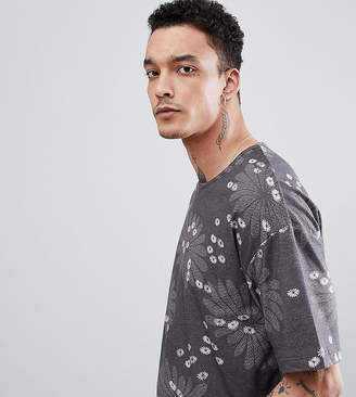 Heart & Dagger Printed T-Shirt In Floral Print