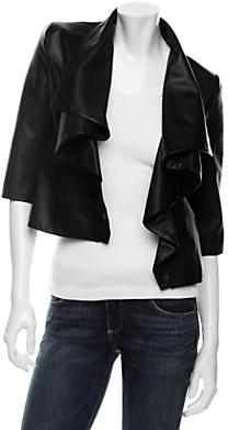 Loeffler Randall Preorder Draped Leather Jacket