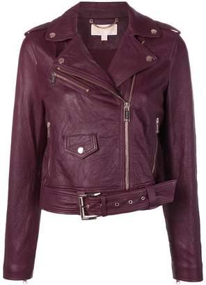 MICHAEL Michael Kors zipped biker jacket