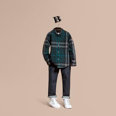 Burberry Check Cotton Button-down Shirt 17
