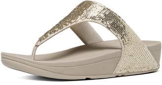 FitFlop Electra Sequin Toe-Post Sandals