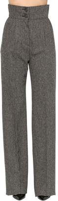 Antonio Berardi High Waist Wool Palazzo Pants