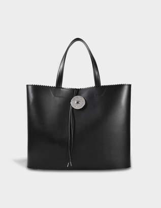 MM6 MAISON MARGIELA Large Shopper Bag in Black Calfskin