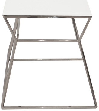 Pangea Geo Side Table Metal Frame With Glass Top