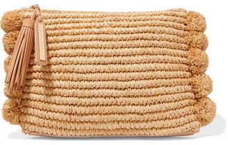 Loeffler Randall Tassel Pompom-embellished Raffia Clutch - Beige