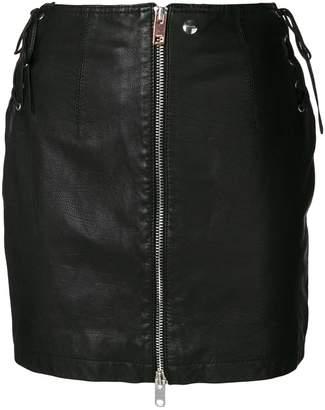 Diesel zip front mini skirt