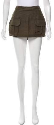 Balmain Linen Mini Skirt