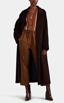 ROUCHA Women's Brushed Wool-Blend Melton Robe Coat - Red