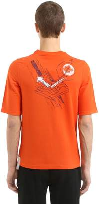 Slim Fit Printed French Terry T-Shirt
