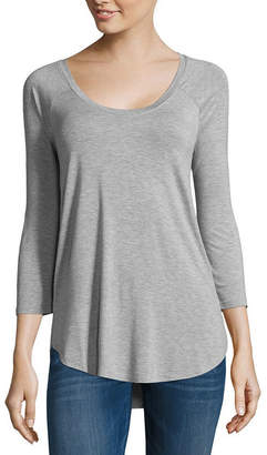 A.N.A 3/4 Sleeve Scoop Neck T-Shirt