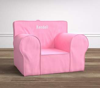 Pottery Barn Kids Light Pink Twill Oversized Anywhere Chair® Slipcover Only