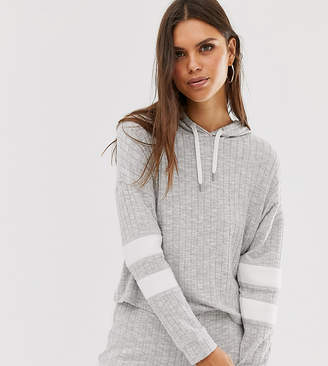Micha Lounge cropped hoodie in rib two-piece