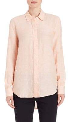 Lord & Taylor Linen Hi-Low Casual Shirt