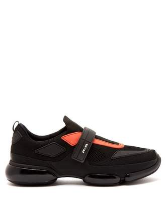 Prada Cloudbust Low Top Knitted Trainers - Mens - Black