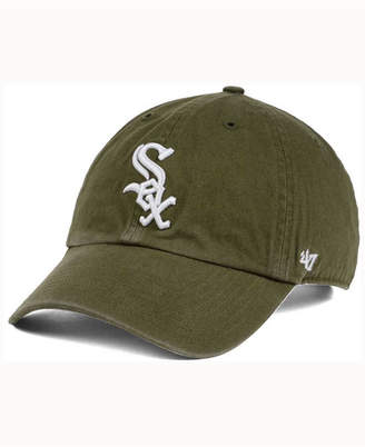 '47 Chicago White Sox Olive White Clean Up Cap